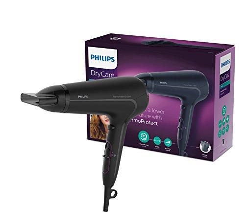 Philips HP8230/00 ThermoProtect Asciugacapelli, 2100 W, Nero