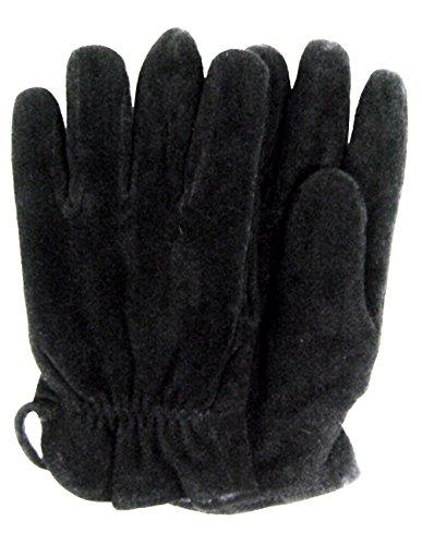 Modestone Unisex Watson Genuine Buckskin Suede Gloves Black Lined 9 Scala Suede Cap