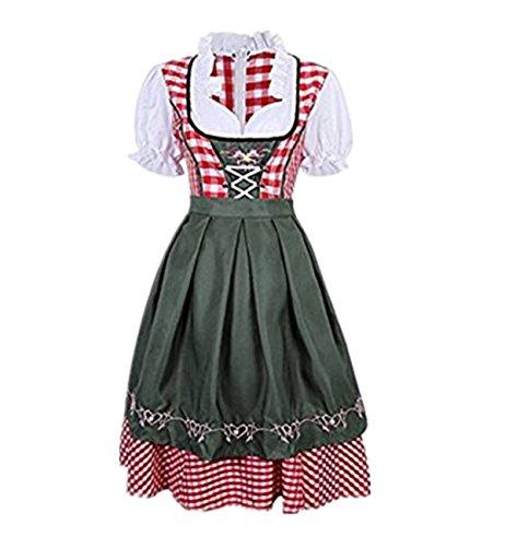 Prettycos Disfraz de Bavara Tirolesa Mujer vestido de Oktoberfest XXL