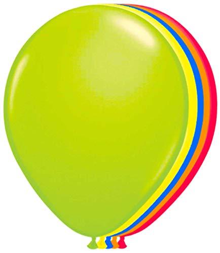 Folat Ballons 50er Pack XL 25 cm Luftballons neon Mix