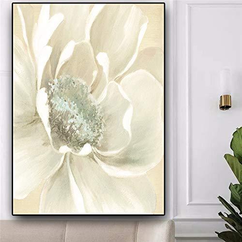 Abstrakte Blumenkunst Master Ölgemälde auf Leinwand Poster und Druck auf Wandkunst Bild für Wohnzimmer Nordic Dekoration (kein Rahmen) A1 50x70CM