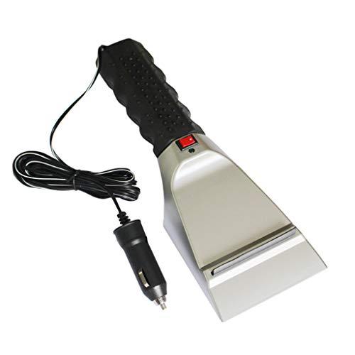 FiedFikt 12 V Beheizte Auto-Winter-Windschutzscheibe, elektrischer Schaber Heizungsschaufel, Schneeschaufel, Gummistreifen, niedriger Temperaturwiderstand -