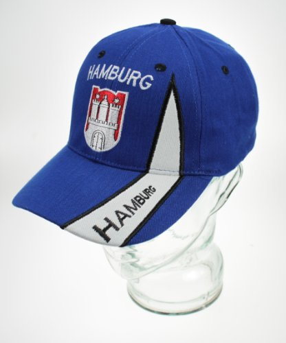 Yantec Basecap Hamburg Dunkelblau Cap (Fußball-kappe Baseball-kappen Hut)