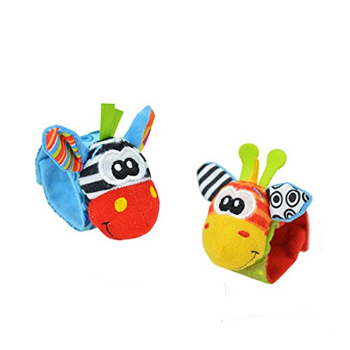 Lovely Infant Baby Foot Socks / Wristand Rattles Toys (Type 2) 41 2BJLhIvGlL