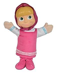 Simba 109309853-mascha y el Oso mascha marioneta de Mano con Cabeza de Vinilo 28cm