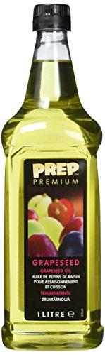 PREP PREMIUM Traubenkernöl 1 x 1000 ml PET mildes, geschmacksneutrales Öl, rohkostqualität...