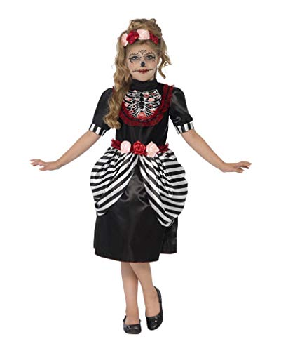 Horror-Shop Sugar Skull Kinder Kostüm - Sugar Skull Kostüm Kind