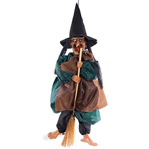 Kapian Halloween-Dekor Realistische Schauende Gespenstische Sprachsteuerung Hängende Fledermäuse für Beste Halloween-Party-Bevorzugungen und Dekoration Grim Reaper mit Schädel Gruseligste Halloween