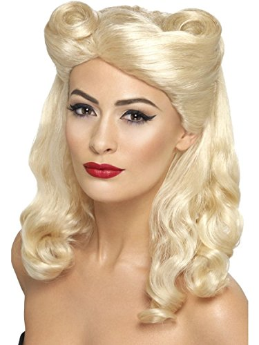 r Jahre Pin-up Vintage Perücke blond Karneval Fasching ()
