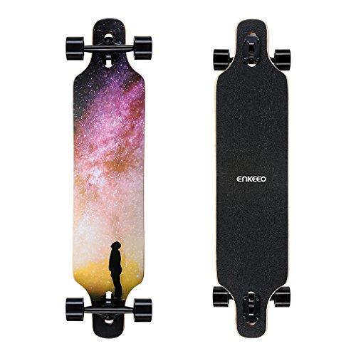 ENKEEO 23x103.5cm Longboard, Monopatín con Rodamiento de...