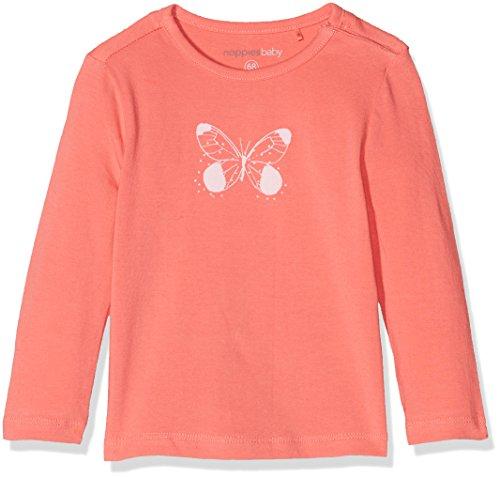 Noppies Baby-Mädchen Langarmshirt G Tee LS Monroe, Rot (Coral C072), 56 (Coral Baby Bekleidung)