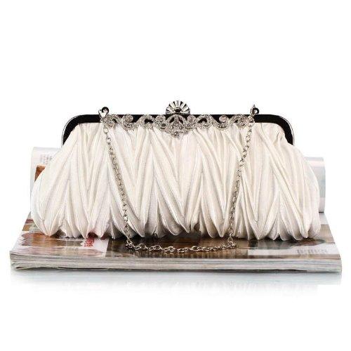 WZW Sacchetto di spalla della borsa di sera per il partito. la cerimonia nuziale e i club . champagne white