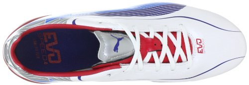 Puma Evos 4 Fg, Chaussures de football femme Weiss (white-limoges-ribbon red 01)