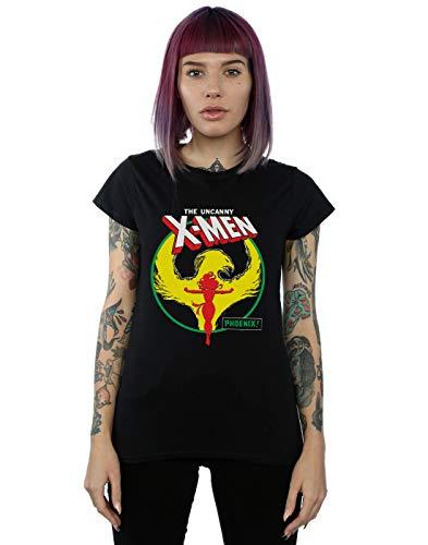 Marvel Mujer X-Men Phoenix Circle Camiseta Negro Medium