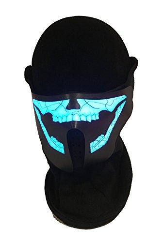 Halloween Schädel inspiriert LED EL Panel Maske, Rave Maske, Cyber Maske, Kostüm Maske, Cosplay Maske, Tanz Musik Maske für Club Rave und Festivals.