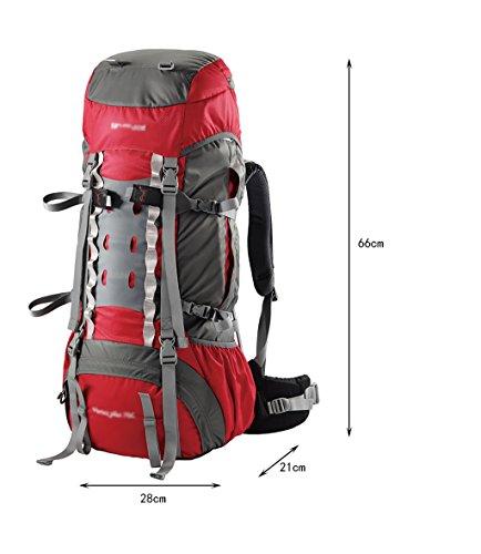 zaino trekking Outdoor Zaino Sport alpinismo uomini borsa e di spalla delle donne borsa da viaggio impermeabile professionale di grande capienza 55L borsa da viaggio Zaini da escursionismo ( Colore :  C