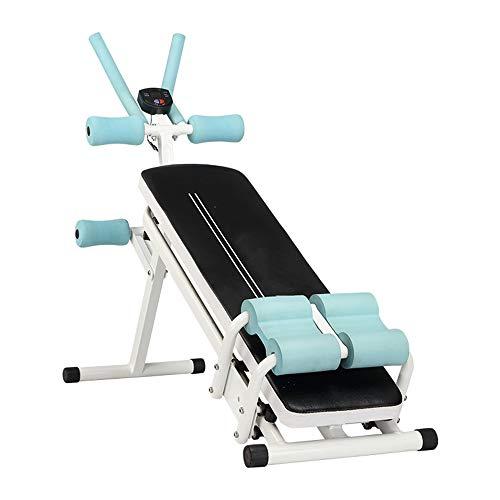 Il Sit-up Board, Il Dispositivo Addominale Multifunzione può Regolare l'attrezzatura Home Fitness del Sit-up Board, Adatta all'esercizio dei Muscoli Addominali e della Vita Sottile,Bianca