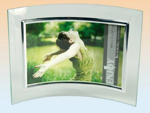 Idea bomboniere: Cornice Portafoto curva in vetro 15x10cm; set di 6 pezzi