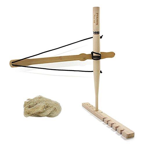 PSKOOK Bogen-Bohr-Kit Feuerstarter Primitives Holz Überlebenspraxis für den Unterricht nach außen gebundene Ausbildung Steinzeit