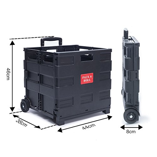 dxp transport trolley klappbar bis 35kg einkaufstrolley einkaufswagen klappbox transportwagen. Black Bedroom Furniture Sets. Home Design Ideas