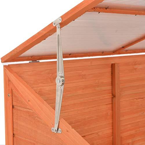 Festnight- Gewächshaus Holz Gartenhaus Frühbeet Pflanzenhaus mit 8 PC-Platten für Balkon Garten 180 x 57 x 62 cm