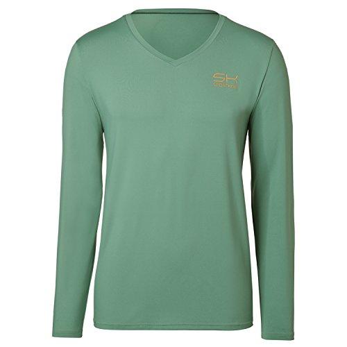 Sportkind Jungen & Herren Tennis Longsleeve Shirt Tommy Haas, olivgrün, Gr. 164