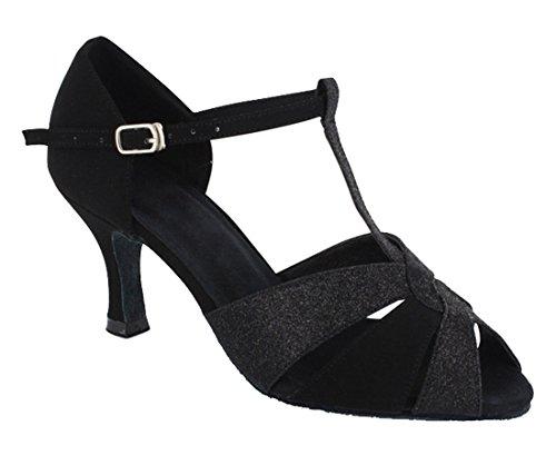 TDA - Ballroom donna Glitter Black