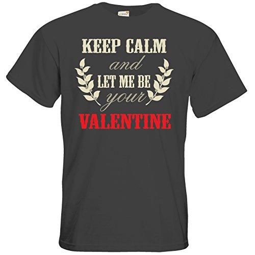 getshirts - RAHMENLOS® Geschenke - T-Shirt - Valentinstag Valentine Keep Calm Dark Grey