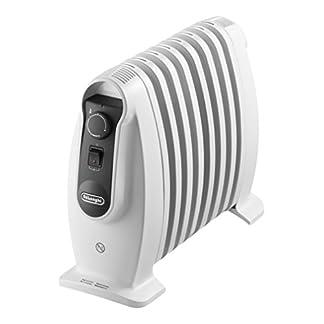 De'longhi TRNS 0808M – Radiador 800 w, ajustes termostato, asas, protección anti heladas, blanco