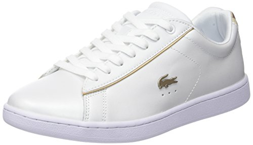 Lacoste Damen Carnaby Evo 118 6 SPW Sneaker, Weiß (Wht/or Gld), 37 EU