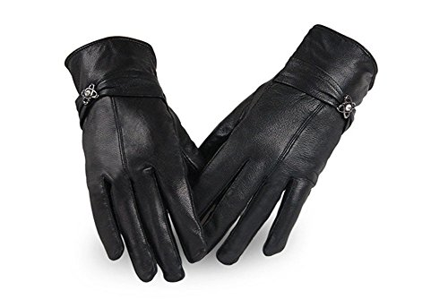 Lemontree Damen Winter sheep Leder Handschuhe XST-22 Schwarz, M