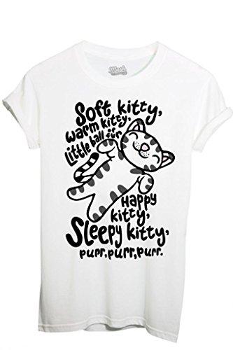 T-Shirt SOFT KITTY SLEEPY KITTY SHELDON THE BIG BANG THEORY - FILM by iMage Dress Your Style - Donna-S-BIANCA