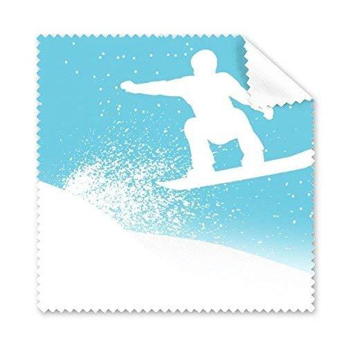 JINSH Wintersport-Skifahren-Skis und Stiefel-Aquarell-Illustrations-Muster-Glasstoff-Putztuch-Telefon-Bildschirm-Reiniger