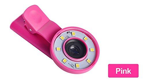 MASUNN Selfie Fill Light Portable Runde Ring Spotlight Clip Telefon Flash Led Nacht Taschenlampe Für Smartphone -Pink