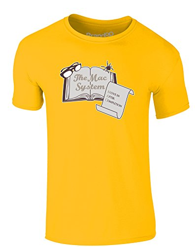 Brand88 - The MAC System, Erwachsene Gedrucktes T-Shirt Gänseblümchen-Gelb