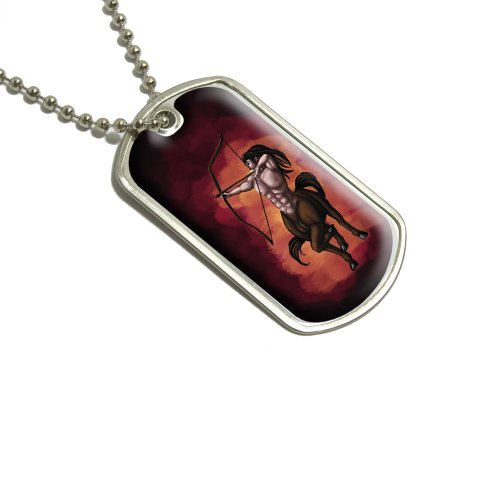 Zentaur-Schütze Mythologie mythischen Kreatur Pfeil und Bogen Bogenschütze/Dog Tag Halskette mit Anhänger