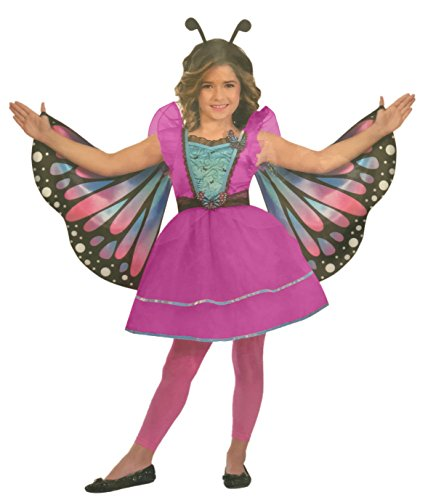 Brandsseller Mädchen Kostüm Verkleidung Fasching Karneval Party - Schmetterling in Verschiedenen Größen erhältlich (Medium (7-10 Jahre), Schmetterling/Pink)