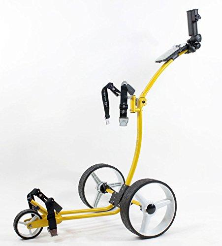 Yorrx Slim Lion Pro 5 Plus Golftrolley/Golfwagen/Golf Cart; inkl.Regenschirmhalter & 3xStk. Babe8 Golfballset