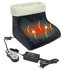 ObboMed MF-2060 Elektrische Vibrationsmassage mit Ferninfrarotkohlefaser-Fußwärmer, 12V 22W, Infraroten Spektralbereichs 8-15μm (Gesunde Wellenlänge : 4-14μm), Autom. Abschaltung zur Sicherheit