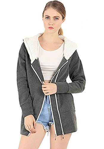Amary - Sweat à capuche - Manches Longues - Femme Darkgray