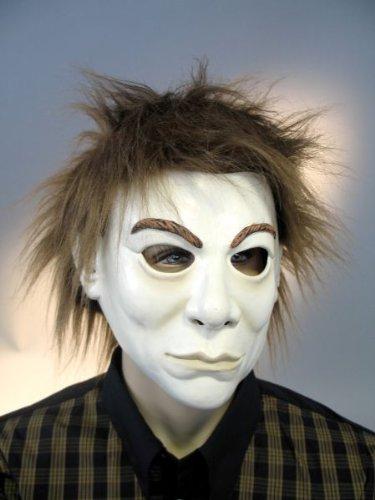 Maske Fantom mit Plüschhaar aus Latex Zubehör zu Halloween Karneval ()