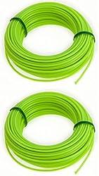 30 Metre Strimmer Cord Line Tough Nylon 2mm Diameter Wire. 2 X 15m Packs.