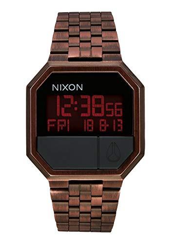 Nixon Unisex Erwachsene Digital Uhr mit Edelstahl Armband A158894-00