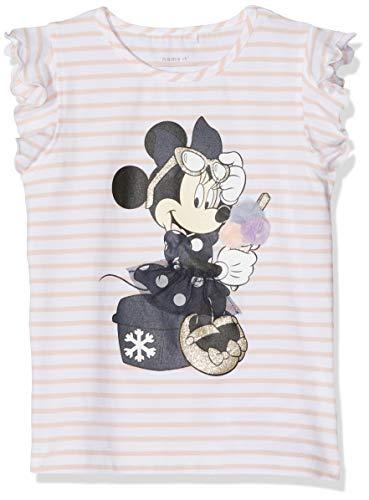 NAME IT Mädchen NMFMINNIE Poppy SS TOP WDI T-Shirt, Mehrfarbig Strawberry Cream, (Herstellergröße: 104)