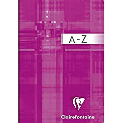 Clairefontaine Metric - Libreta con espiral con ordenación alfabética (9 x 14 cm, 2 unidades), colores diversos