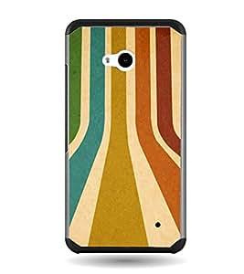 PrintVisa Multicolor Line Pattern High Glossy Metal Designer Back Case Cover for Microsoft Lumia 640 :: Nokia Lumia 640