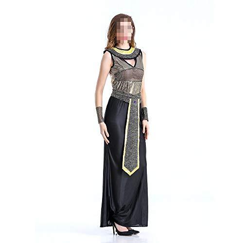 kMOoz Halloween Kostüm,Outfit Für Halloween Fasching Karneval Halloween Cosplay Horror Kostüm,Ägyptische Pharao Königin Verkleiden Sich Halloween Cosplay Kostüm Ball Erwachsenen Kostüm (Sexy Pharao Kostüm)
