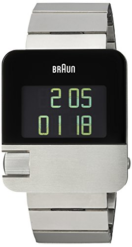 Braun Men's Swiss Quartz Stainless Steel Dress Watch, Color:Silver-Toned (Model: BN0106SLBTG)