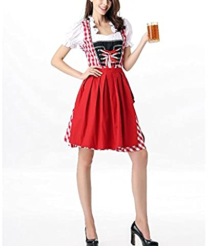HZHF Frauen-Halloween-Cosplay-Deutsch-Oktoberfest-Kostüm , red, M (Frauen Red Devil Kostüm)