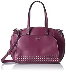 Kenneth Cole Reaction Handbag Sutton Satchel, Grape Wine Stud